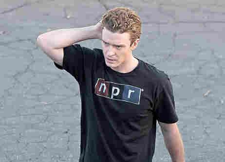 Justin Timberlake in an NPR t-shirt