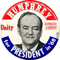 Image result for hubert humphrey 1968