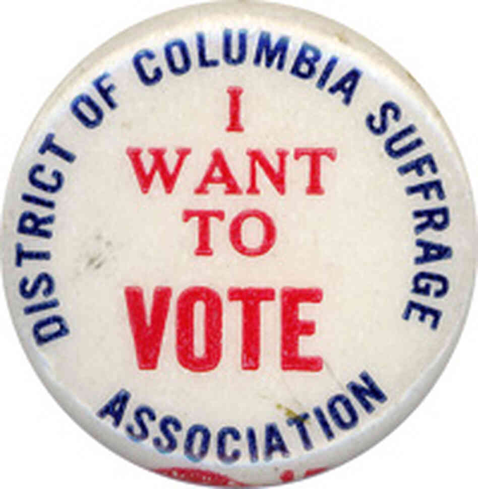 I Want to Vote in D.C. button