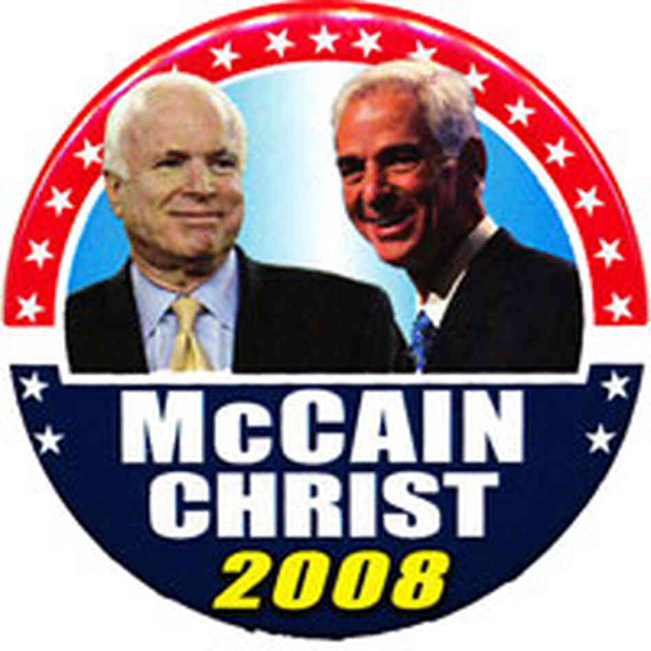 McCain Christ Button