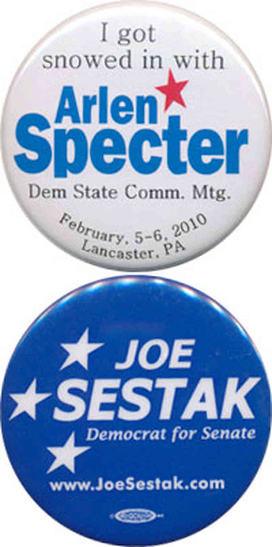 Specter and Sestak buttons