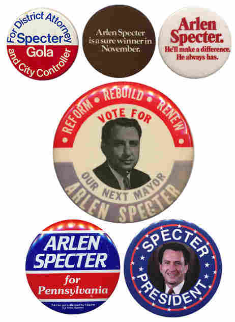 Specter campaign buttons