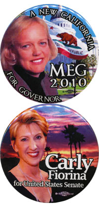 Meg and Carly buttons
