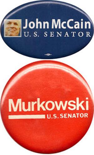McCain and Murkowski buttons