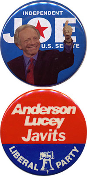 Lieberman and Javits buttons