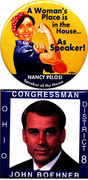 Pelosi and Boehner buttons