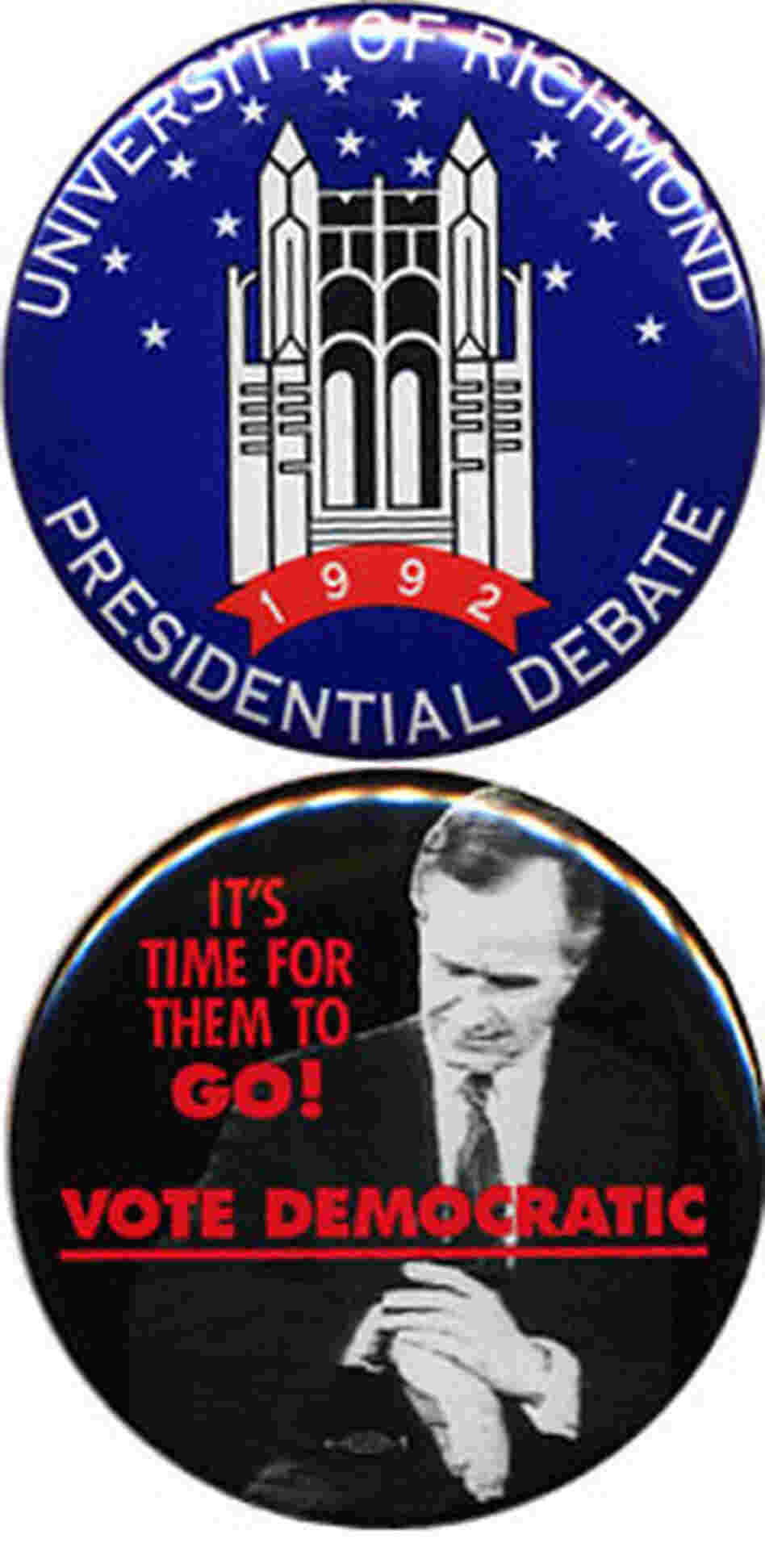 Bush Clinton 1992 buttons