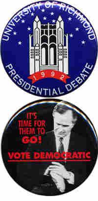 Bush Clinton 1992 buttons