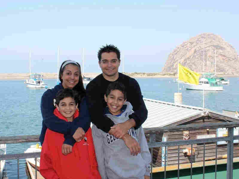 Davar's children in Morro Bay, California August 2009. (From top left: Samira, Saied. From bottom le