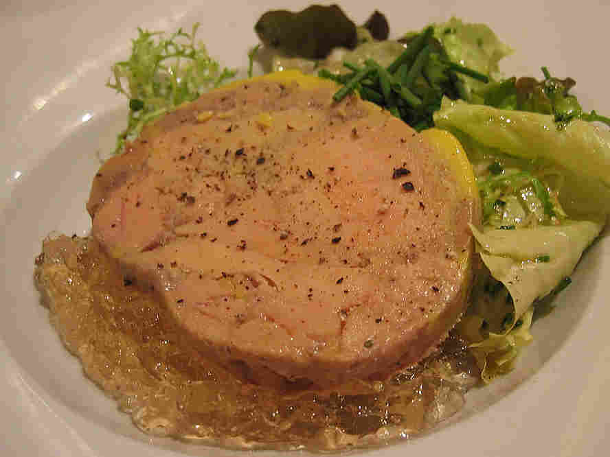 Foie Gras on a plate.