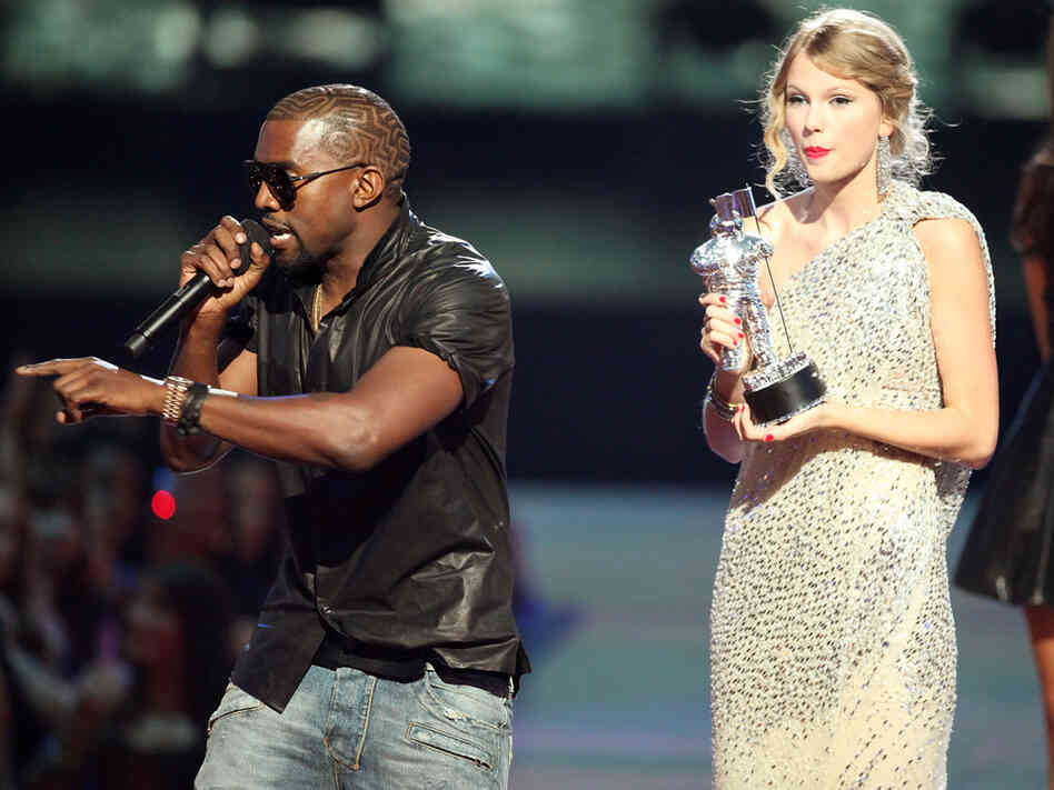 Kanye at the VMAs; credit: Christopher Polk/Getty Images
