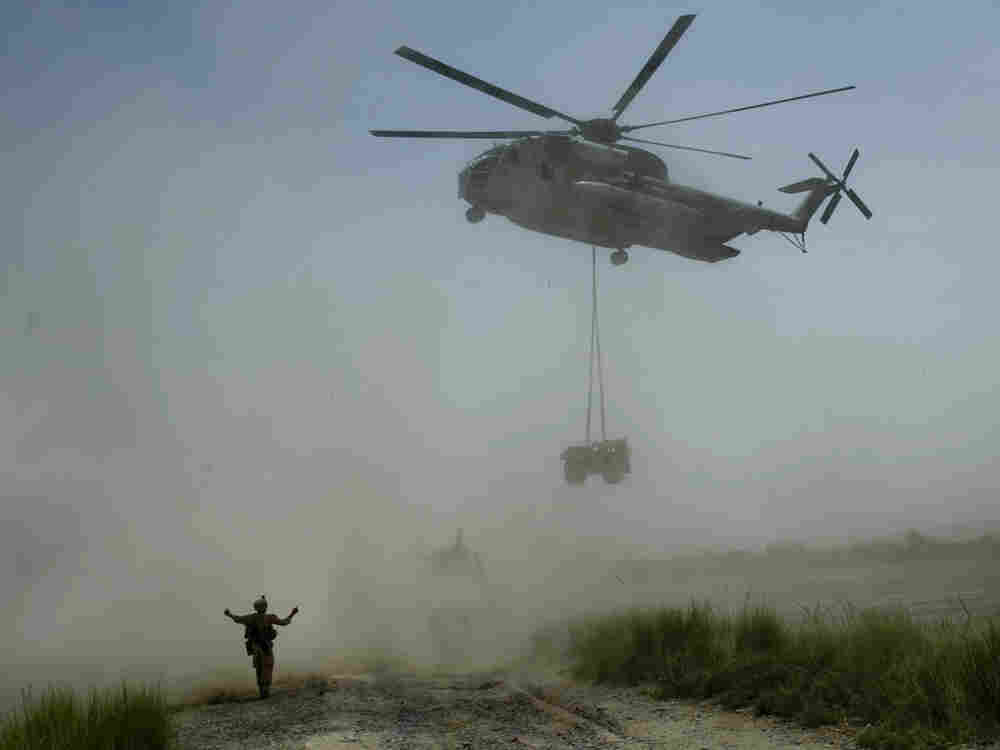 helicopter in Afghanistan.