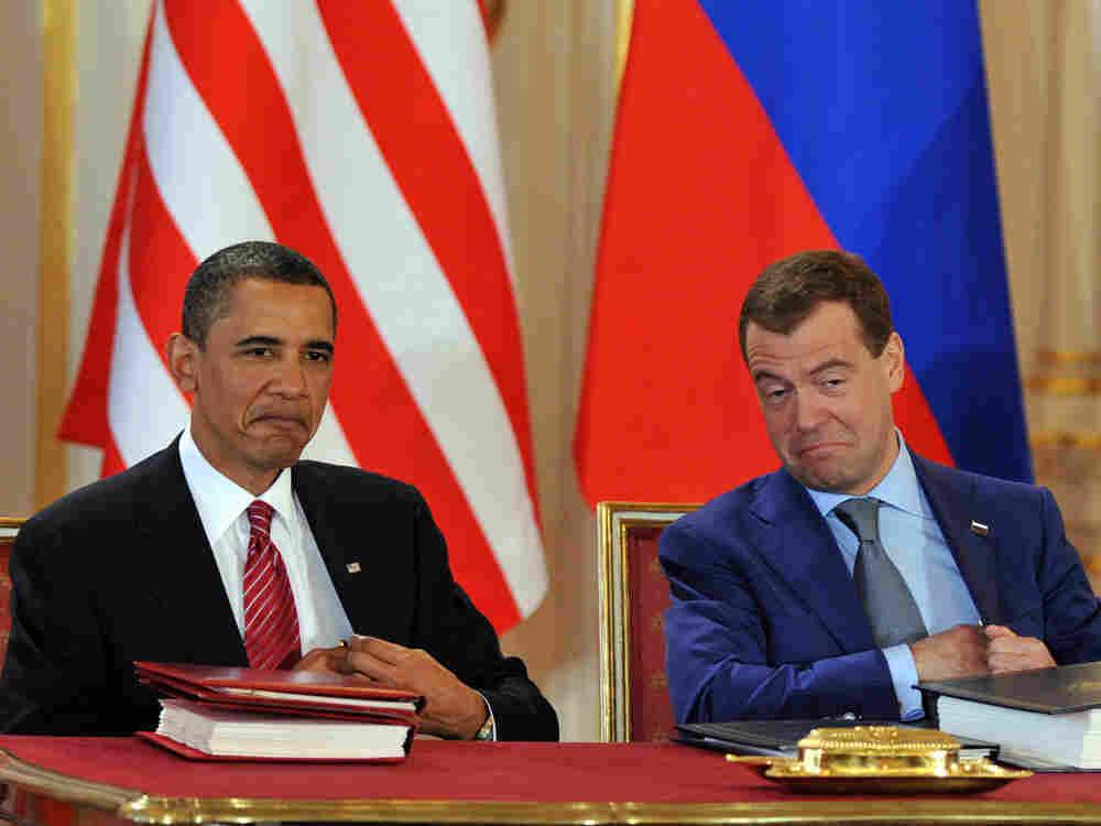 President Obama and President Medvedev.