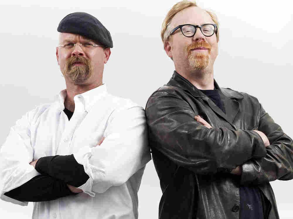 "Jamie Hyneman and Adam Savage of ""Mythbusters""."