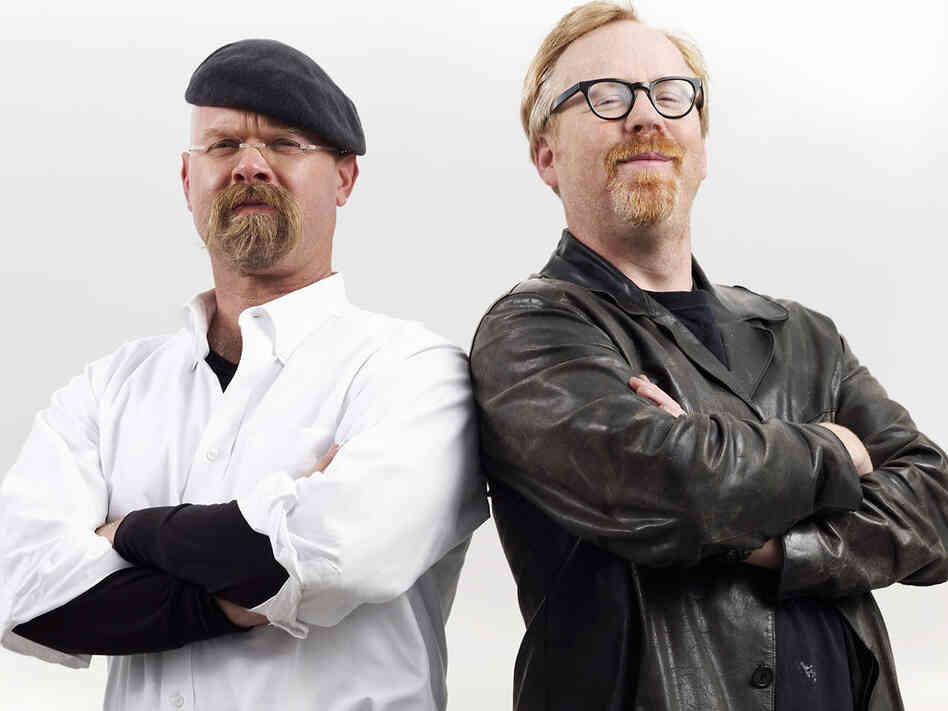 "Jamie Hyneman and Adam Savage of ""Mythbusters""."