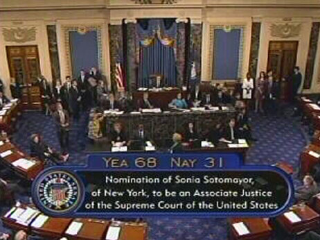 Senate Sotomayor vote.