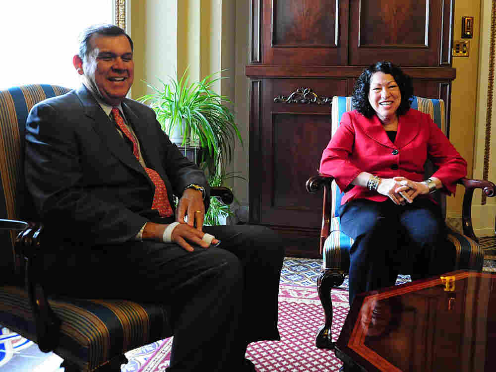US Supreme Court nominee Sonia Sotomayor meets with Sen. Mel Martinez, R-FL, on Capitol Hill on June