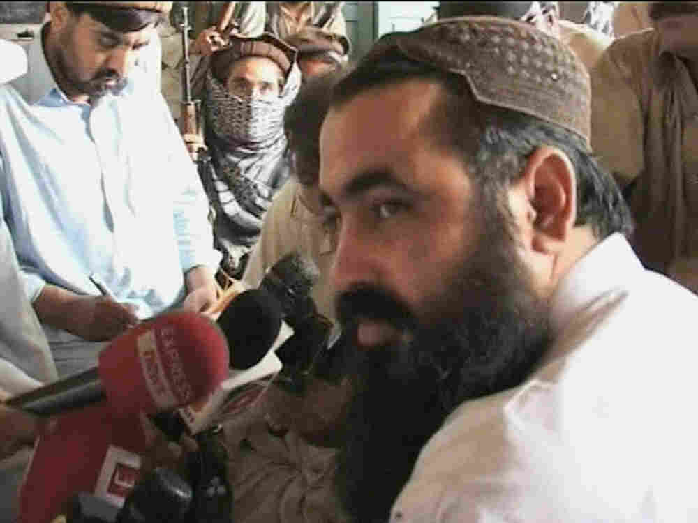In this image made from video taken on May 24, 2008, Pakistan's top Taliban leader Baitullah Mehsud,