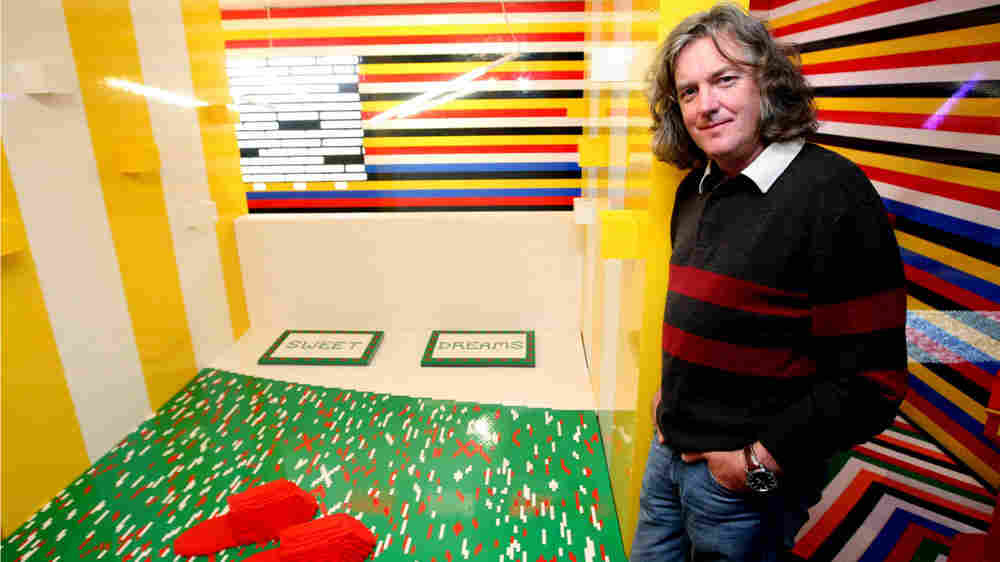 TV presenter James May visits a full size house made entirely with Lego bricks, Friday Sept. 18, 200