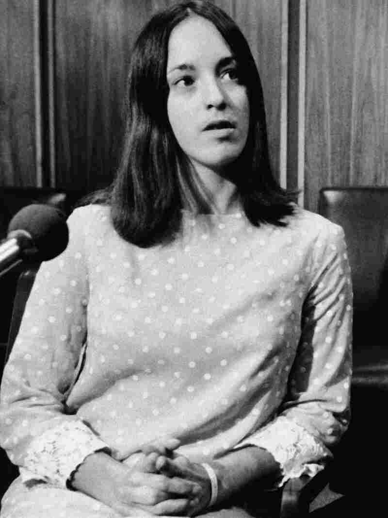 File - In this Dec. 3, 1969 file photo, Susan Atkins, at age 21, a follower of Charles Manson, speak