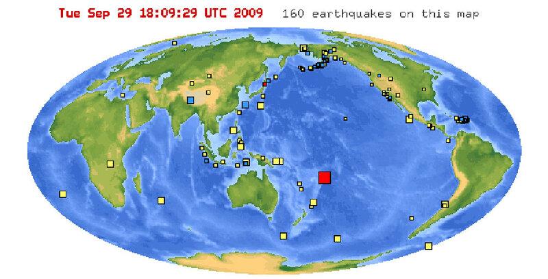 Major 7.9 Earthquake In Pacific Ocean Near American Samoa ...