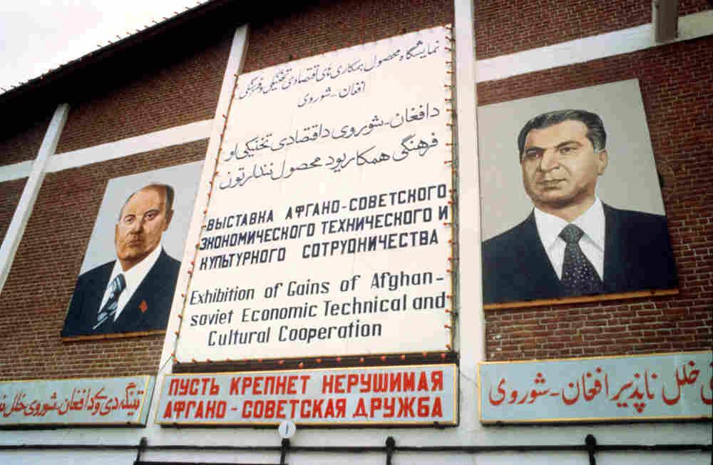 Mikhail Gorbachev and Babrak Karmal.