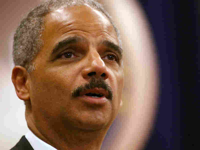 Attorney General Eric Holder addresses employees at the Justice Department in Washington, Thursday A