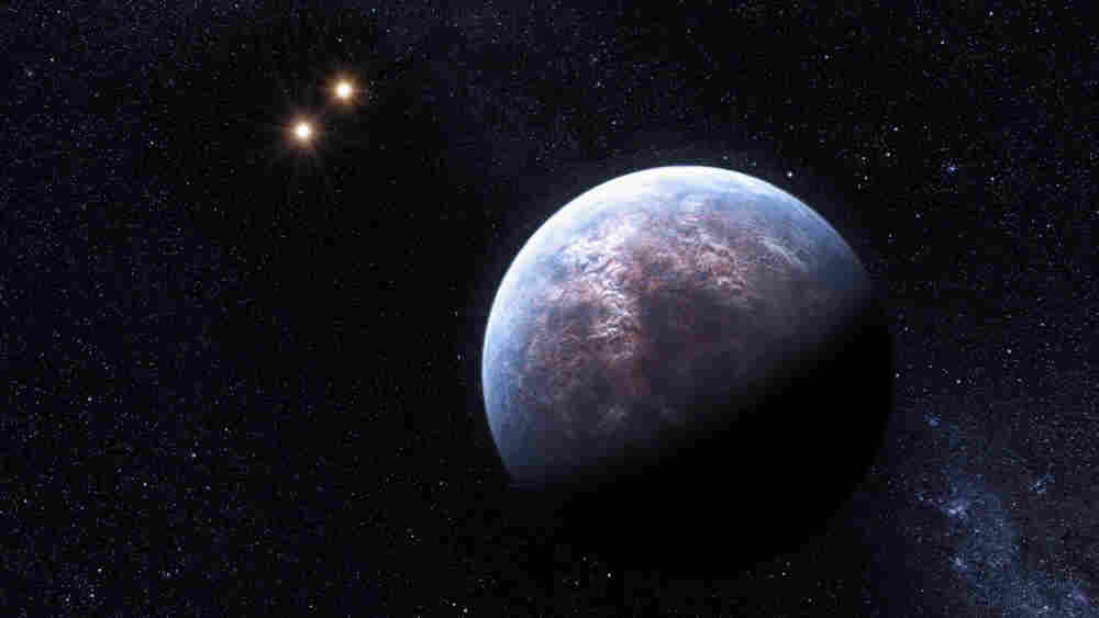 An artist's impression of what a planet surrounding Gliese 667 C might look like. (European Southern