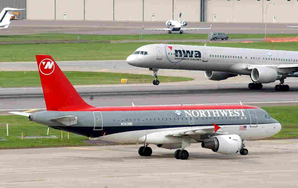 Northwest Airlines planes.