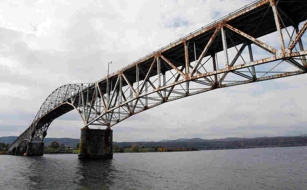 In this photo taken Tuesday, Oct. 20, 2009, the Champlain Bridge is seen in West Addison, Vt. A repo