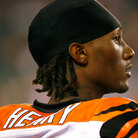 Cincinnati Bengals wide receiver Chris Henry at Paul Brown Stadium, home of the NFL football Cincinnati Bengals, in Cincinnati, Aug. 27, 2009.(AP Photo/David Kohl)