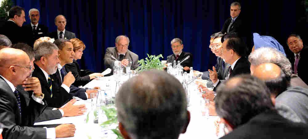 Obama in Copenhagen meeting.