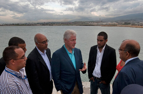Bill Clinton in Haiti.