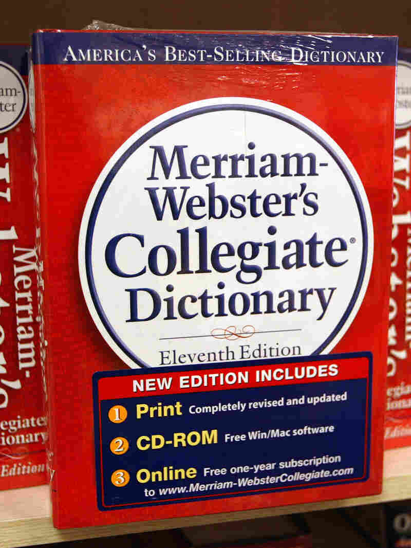A Merriam-Webster's Collegiate Dictionary is displayed in a bookstore November 10, 2003 in Niles, Il