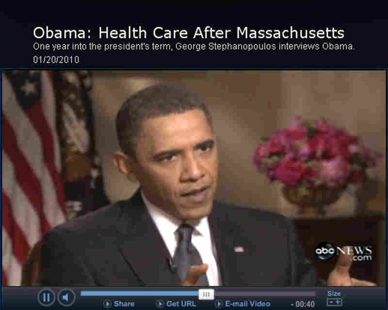President Obama screenshot.