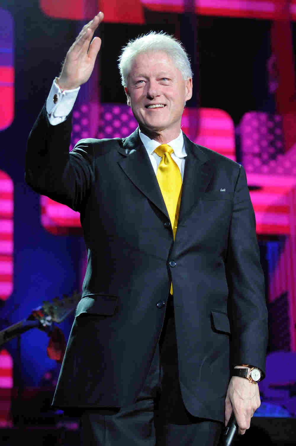 Bill Clinton, who had heart bypass surgery in 2004, was hospitalized in New York City.