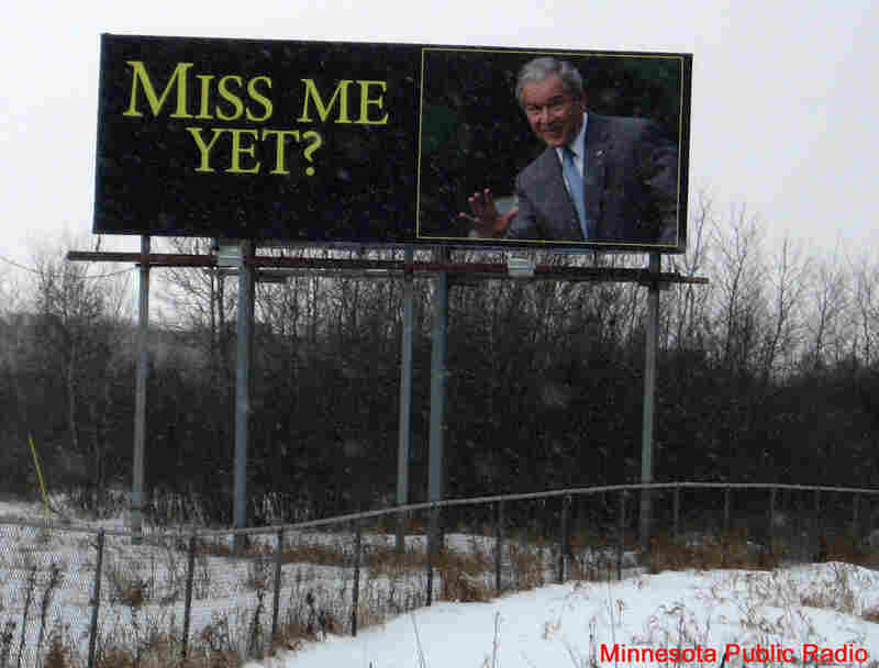 A billboard near Wyoming, Minn. Courtesy Minnesota Public Radio.