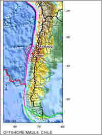 USGS map showing location of today's earthquake in Chile. (http://neic.usgs.gov/neis/eq_depot/2010/e