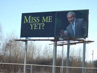 G Bush Billboard