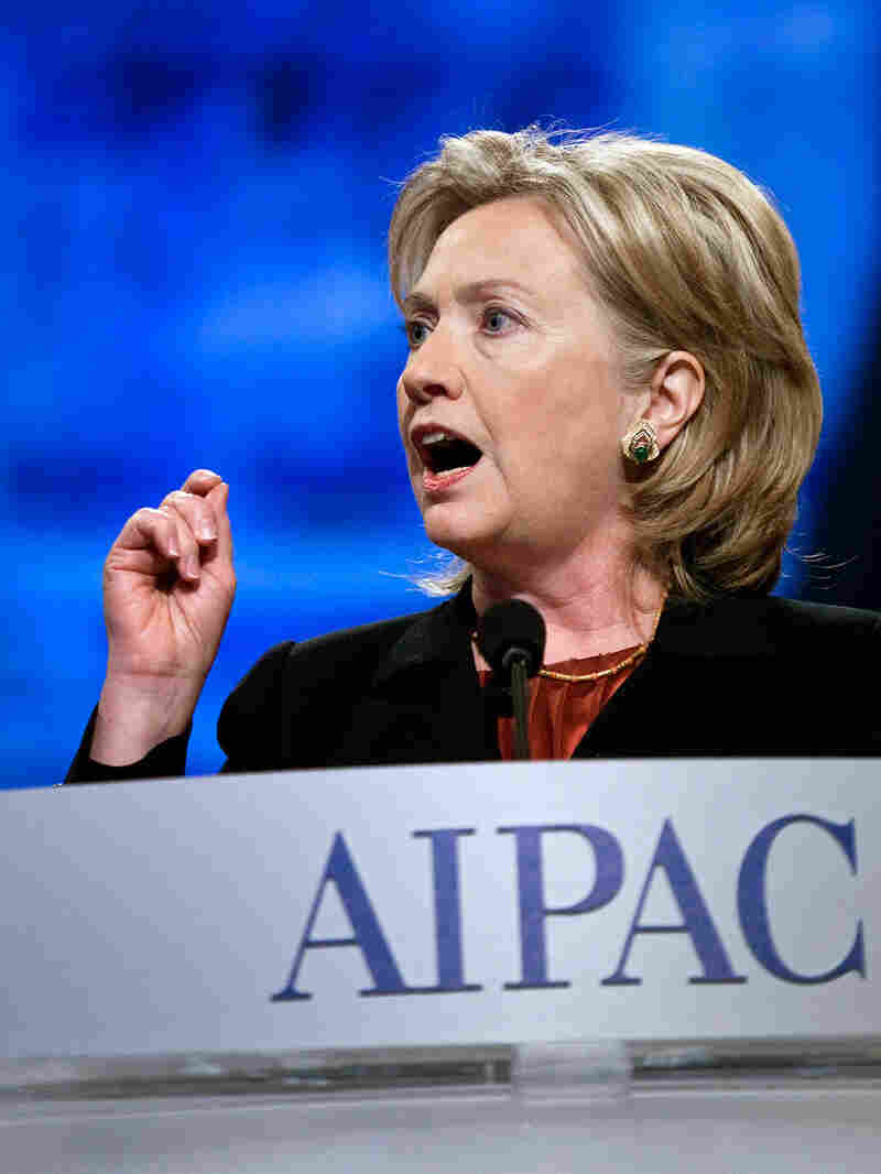 Secretary of State Hillary Rodham Clinton speaks during the 2010 American Israel Public Affairs Comm