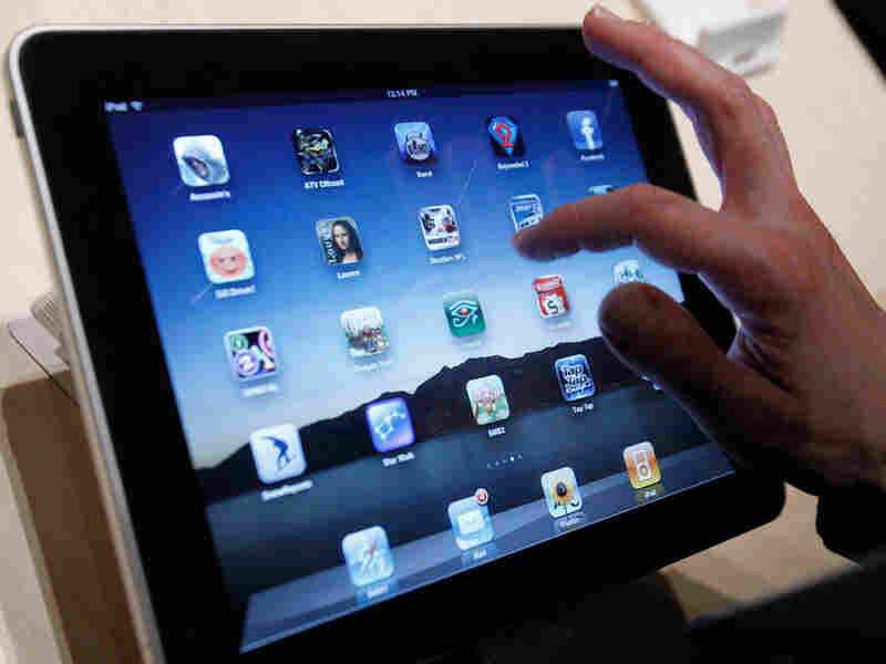 In this Jan. 27, 2010 file photo, the iPad is shown after it was unveiled at the Moscone Center in S