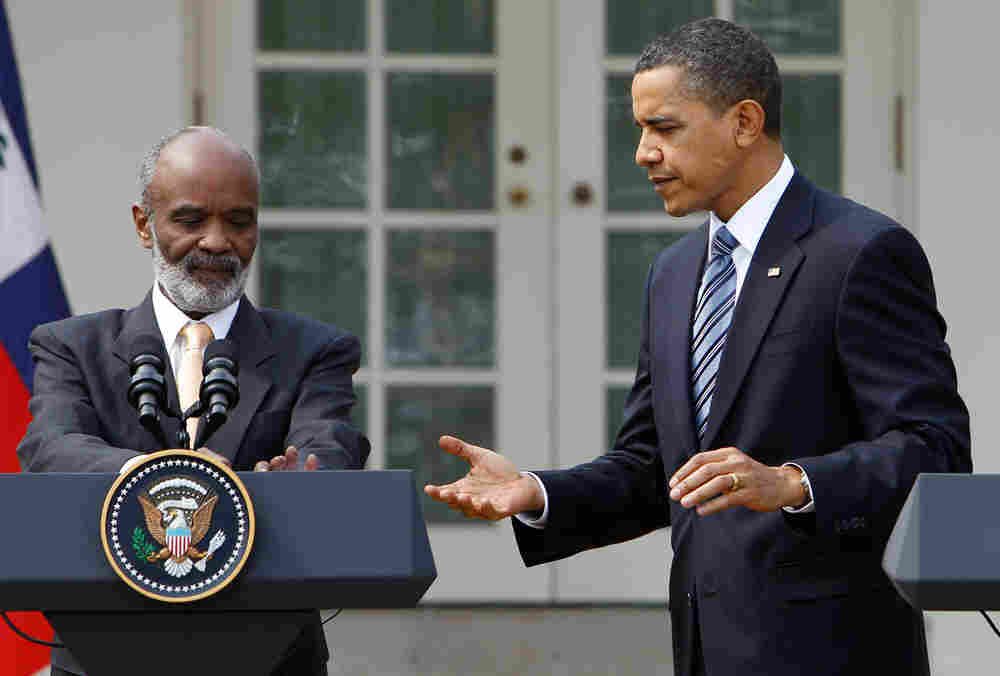 President Barack Obama, told Haitian President Rene Preval the U.S. commitment to Haiti will endure.