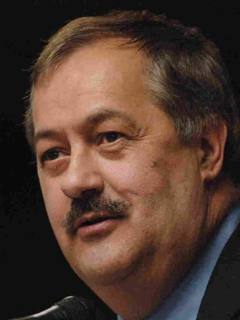 Don Blankenship, chief executive of Massey Energy Co., speaks during the Bluefield Coal Symposium, a