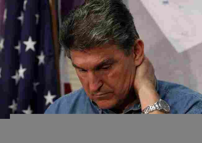 West Virginia Governor Joe Manchin participates in a news conference where he told reporters that th