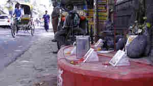 Near the Grand Trunk Road's start, a Hindu shrine. (Nishant Dahiya/NPR)