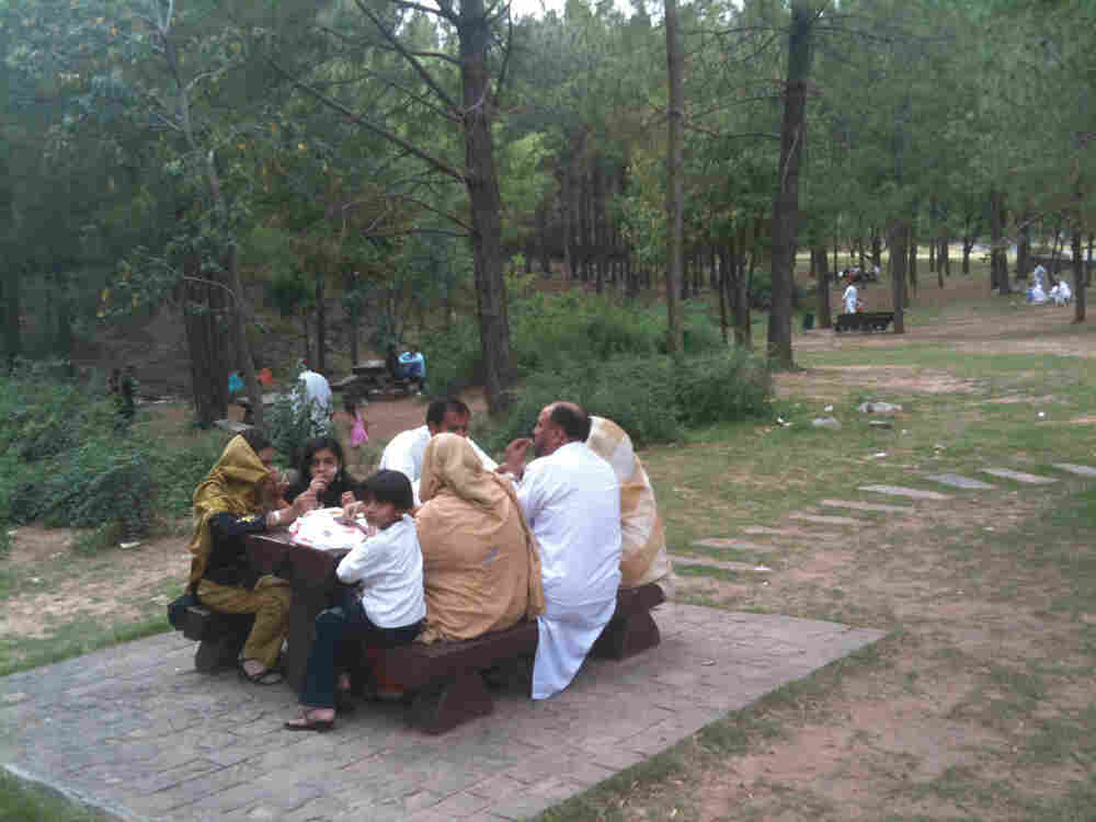 A Sunday picnic in Pakistan.