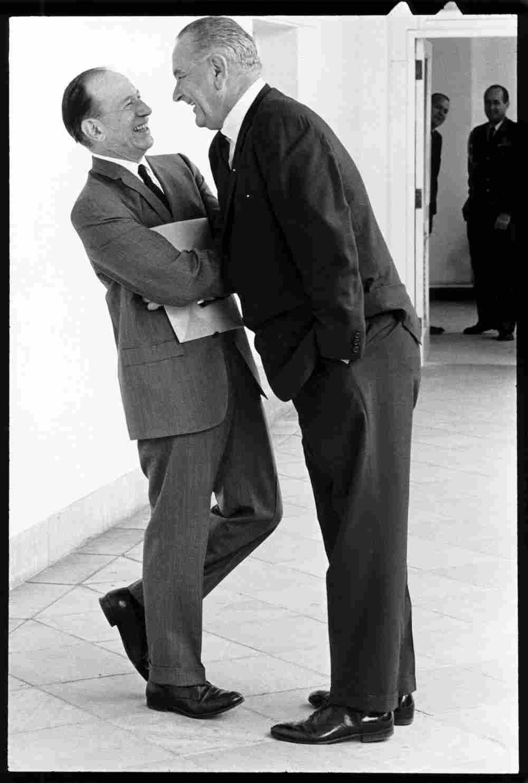 LBJ gives Abe Fortas the Johnson treatment.