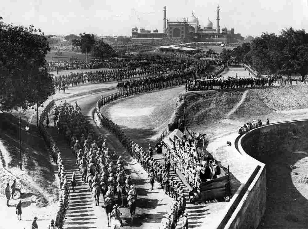The procession to the Red Fort during the great Delhi Durbar to celebrate the accession of King Geor