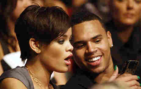 R&B singers Rihanna, left, and Chris Brown are seen at the MTV Movie Awards on Sunday June 1, 20