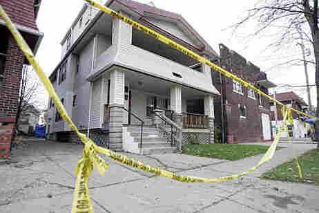 The home of Anthony Sowell is pictured on Wednesday in Cleveland. The former U.S. Marine is charged